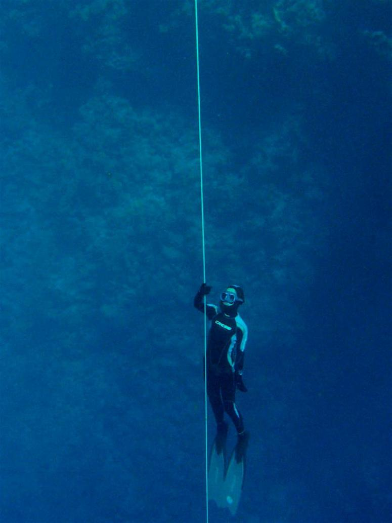 training apnea in blue hole